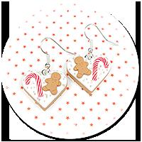 kolczyki świąteczne ciasteczka nr 23