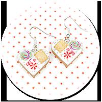 kolczyki świąteczne ciasteczka nr 5