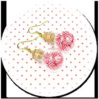 kolczyki świąteczne szklane kule nr 2