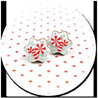 kolczyki wtykane świąteczne ciasteczka nr 28