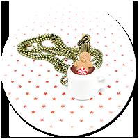 naszyjnik świąteczny kubek z gorącą czekoladą nr 2