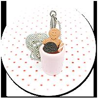 naszyjnik świąteczny kubek z gorącą czekoladą nr 4