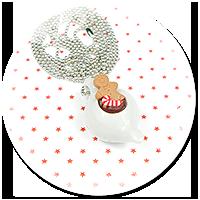 naszyjnik świąteczny dzbanuszek