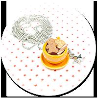 kolczyki wtykane babeczki z czekoladą