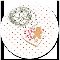 naszyjnik świąteczne ciasteczko nr 7