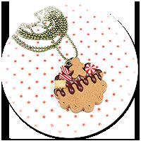 naszyjnik świąteczne ciasteczko nr 5