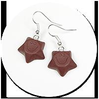 kolczyki czekoladowe gwiazdki nr 2