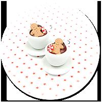kolczyki świąteczne filiżanki z gorącą czekoladą nr 5