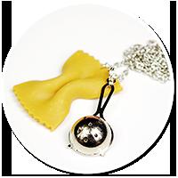 naszyjnik makaron z durszlakiem