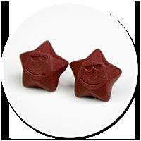 kolczyki wtykane czekoladowe gwiazdki