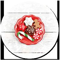 broszka talerzyk z ciastkami nr 3