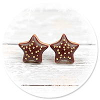 kolczyki wtykane świąteczne ciasteczka nr 22