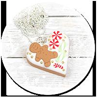 naszyjnik świąteczne ciasteczko nr 4