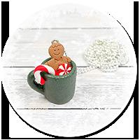 naszyjnik świąteczny kubek z gorącą czekoladą nr 5