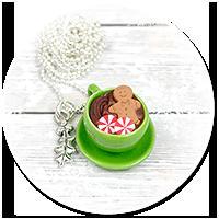 naszyjnik świąteczny filiżanka z gorącą czekoladą nr 4