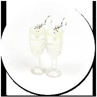 kolczyki lampki szampana