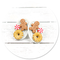 plug-in earrings christmas plates with cookies